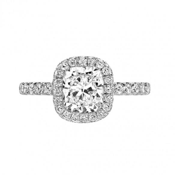 Cushion Cut Engagement Rings Sona Ring 2 Carat