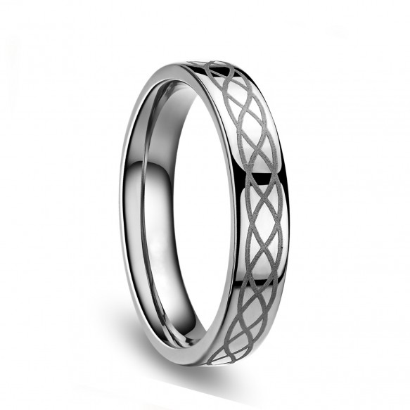 Titanium Infinity Ring Mens and Womens Promise Rings