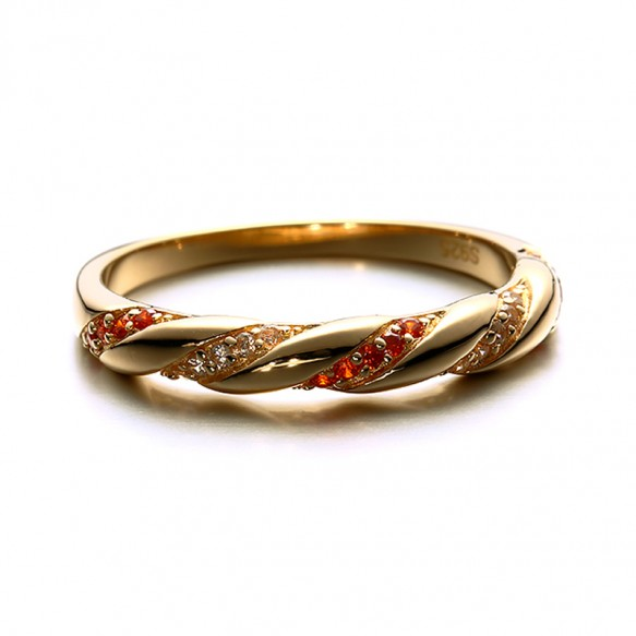 Infinity Rings for her with 14k Gold Plated in Sterling Silver