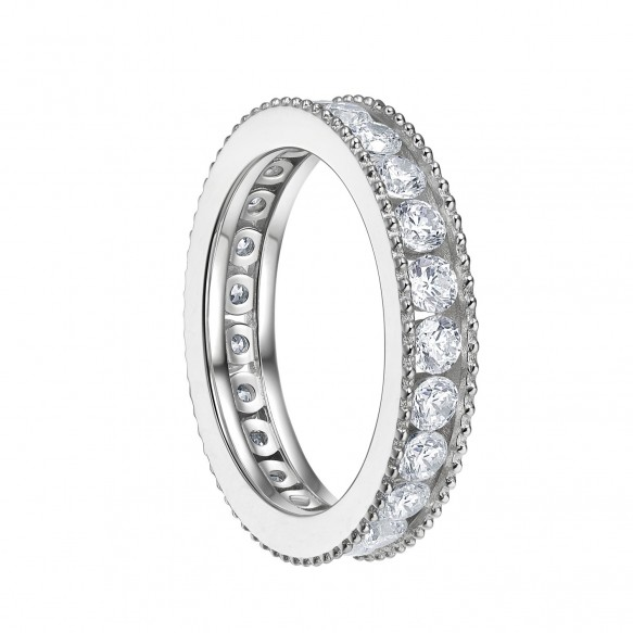 Sterling Silver Cubic Zirconia Wedding Engagement Rings