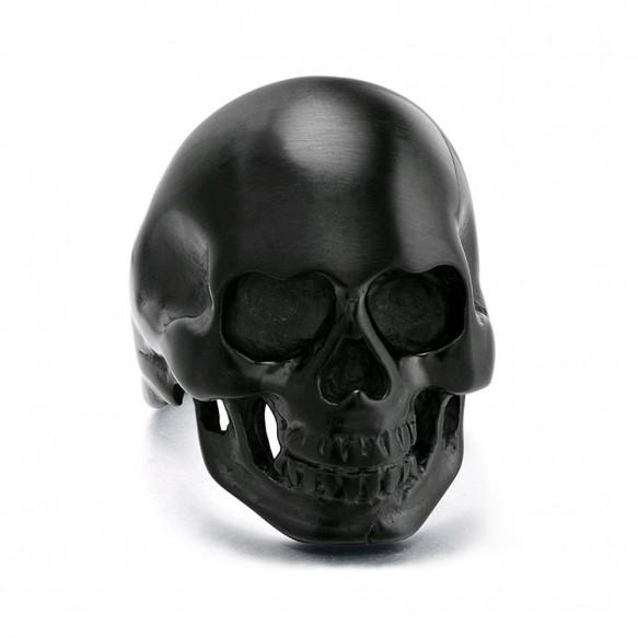 Skull Rings for Men Black Stainless Steel Rings