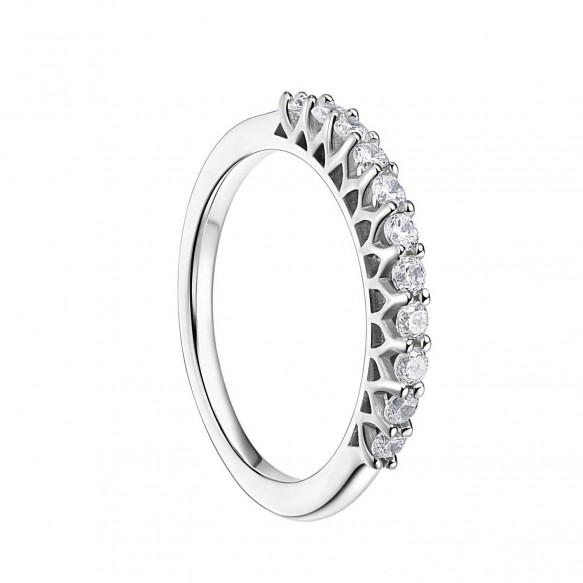 Sterling Silver CZ Eternity Rings for women