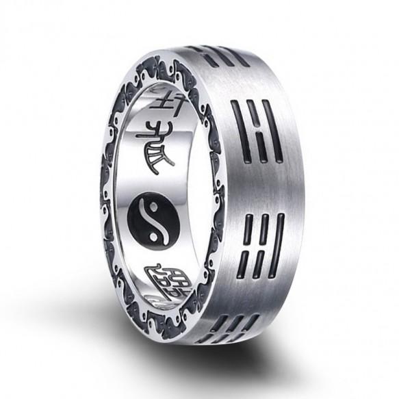 Gossip Taiji Religious Ring for Men in Stainless Steel