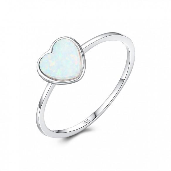 Opal Heart Rings Engagement Rings for her