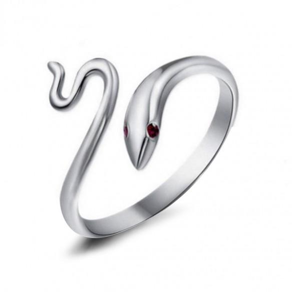 Snake Sterling Silver Animal Rings Adjustable