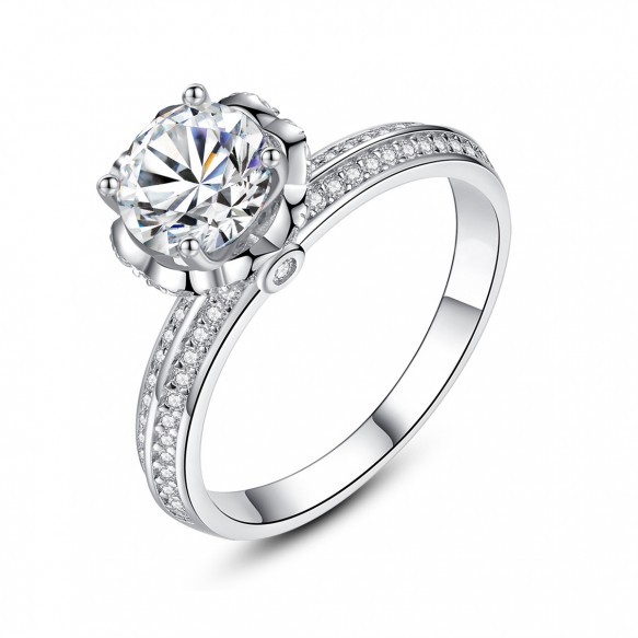 Sterling Silver Cz Engagement Rings Promise Rings for her