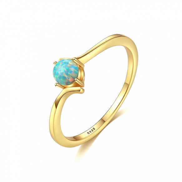 Blue Opal Rings Gold Engagement Rings for Girls