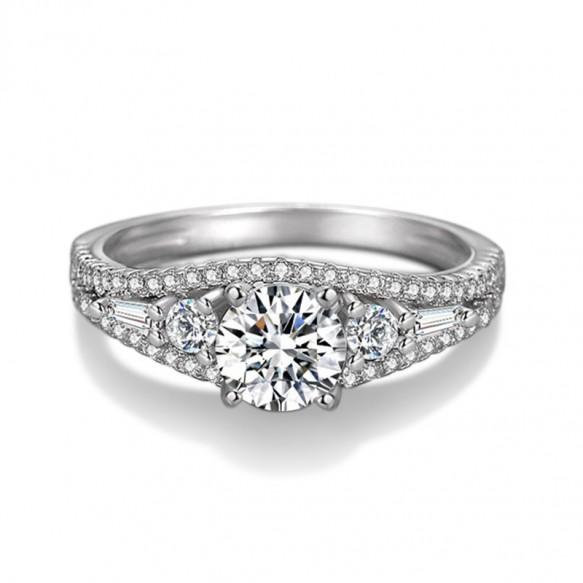 Women Cubic Zirconia Sterling Silver Rings