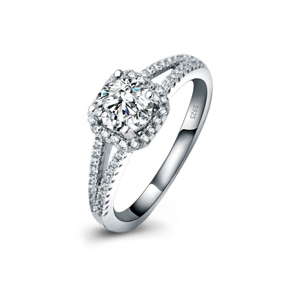 S925 Sterling Silver Ring Micro Pave CZ Ring