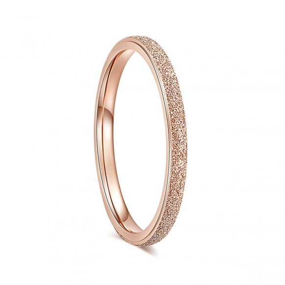 Rose Gold Wedding Bands Matte 2mm in Tungsten