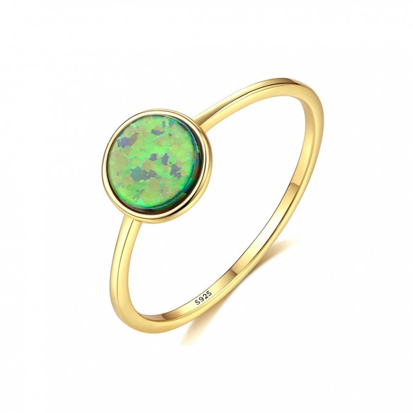 October Birthstone Opal Vintage Gold Engagement Rings