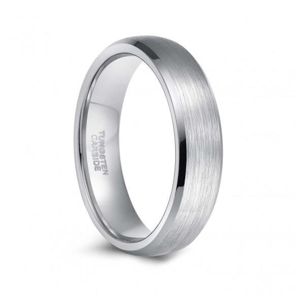 Mens Womens Grey Tungsten Wedding Bands 6mm 8mm