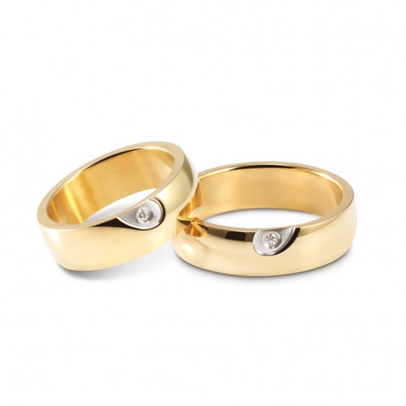 Heart Couples Promise Rings in Stainless Steel/Titanium Steel