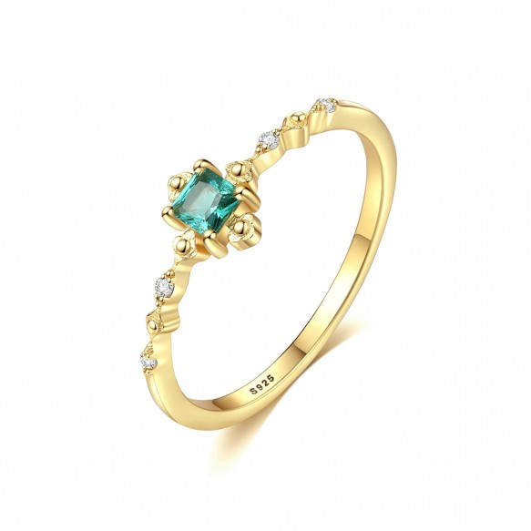 Vintage Gemstone Engagement Rings Gold Plated Stone Rings