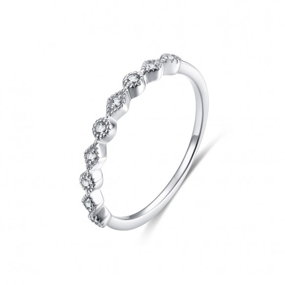 Infinity Wedding Band in 925 Sterling Silver