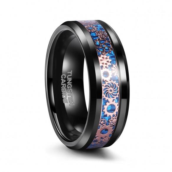 Black Tungsten Galaxy Ring