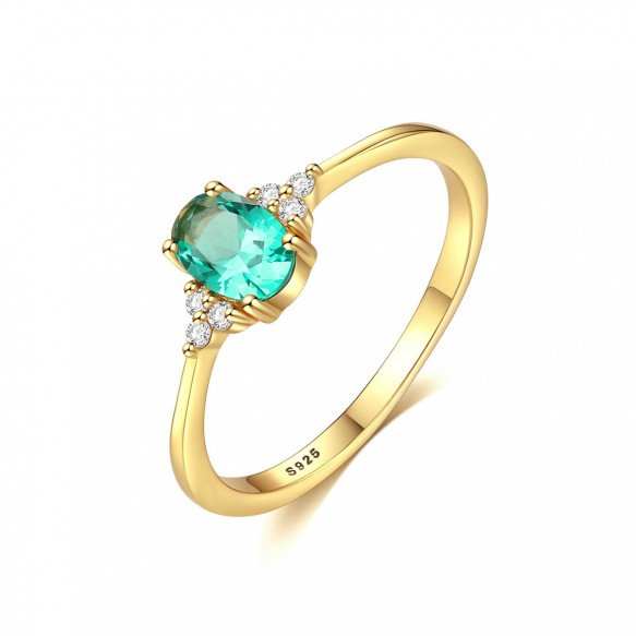 Light Green Gemstone Vintage Emerald Rings