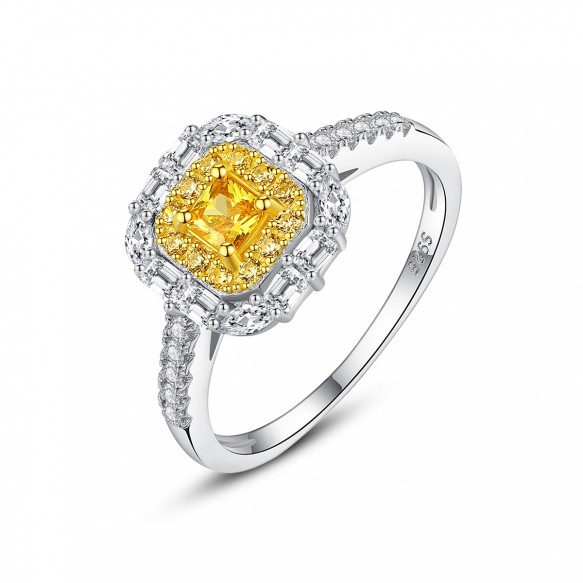 Yellow Stone Engagement Rings Vintage Rings for Women