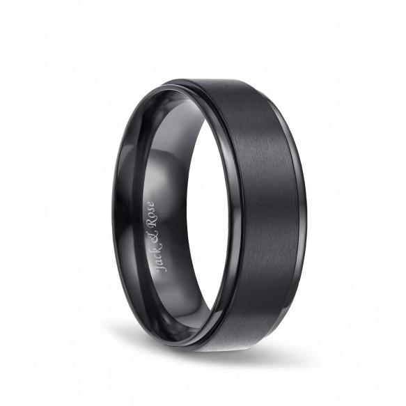 Mens Titanium Ring Black Matte Finished 8mm