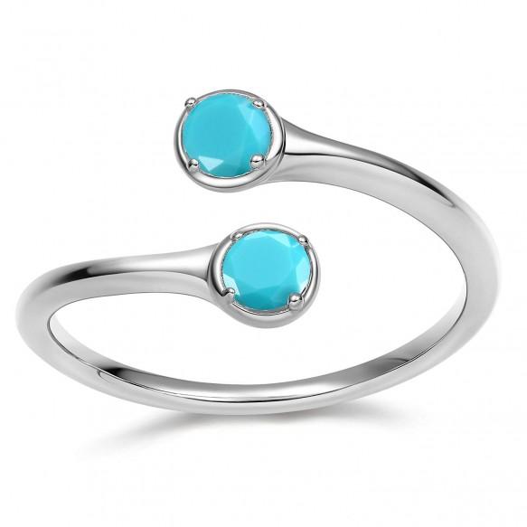 December Birthtone Rings 925 Sterling Silver Engagement Rings