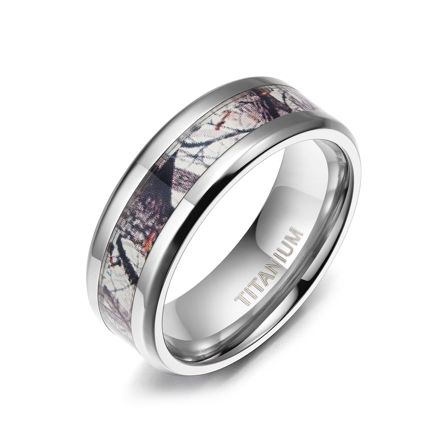 Anium Camo Wedding Bands For Him And Her 8mm 1