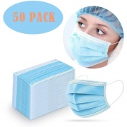 50 Piece Disposable Face Mask Safety Mask For Personal Health 3-ply Ear Loop Family Safety Set