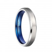 Mens Womens Titanium Wedding Rings Silver Brushed Finished