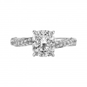 925 Sterling Silver Cushion Cut Sona Diamond Engagement Rings