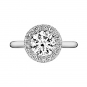 Round Halo Engagement Rings Sona Diamond Sterling Silver Rings 2 Carat
