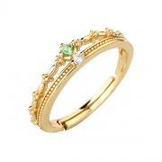 Princess Crown Adjustable Wedding Rings Sterling Silver