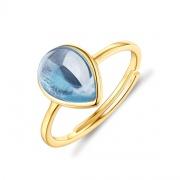 Natural Blue Gemstones Teardrop Engagement Rings