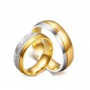 Matching Rings for Couples in Stainless/Titanium Steel 6mm