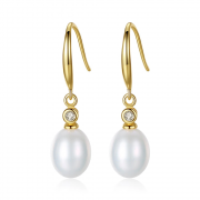 Freshwater Natural Pearl 925 Sterling Silver Drop Earrings