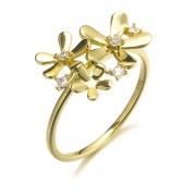 Sterling Silver Flower Ring Unique Design for her
