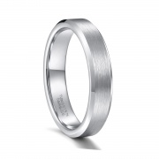 Simple Engagement Rings Silver Tungsten Wedding Bands