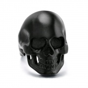 Skull Rings for Men Black Stainless Steel Rings