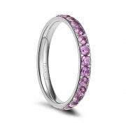 Titanium Rings for Women Engagement Rings with CZ