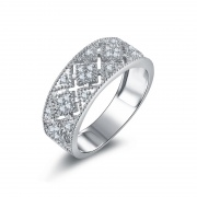 Cubic Zirconia Wedding Bands Vintage Hollow Style