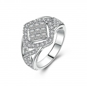 Sterling Silver Wedding Rings with Micro Cubic Zirconia