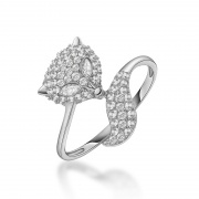 Sterling Silver Fox CZ Ring Beautiful Rings