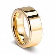 Golden Tungsten Mens Engagement Rings 6mm 8mm