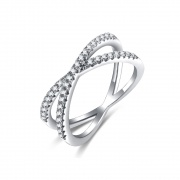 Sterling Silver X Rings Criss Cross Style for her