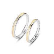 Sterling Silver Matching Promise Rings Simple Style
