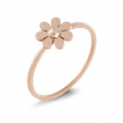 Sunflower Stainless/Titanium Steel Rings for her with Rose Gold Plated