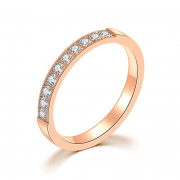 Rose Gold Women's Stainless/Titanium Steel Wedding Bands
