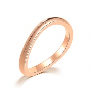 Love u for Infinity Wave Stainless/Titanium Steel Rings 2mm