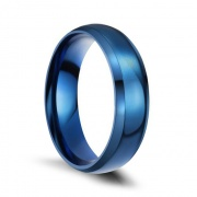 Classic Blue Stainless/Titanium Steel Rings Matte Finished