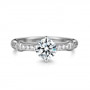 Sterling Silver Engagement Wedding Rings with Simulated Diamond