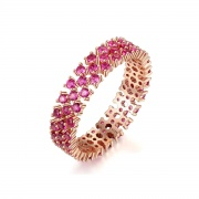 Rose Gold Ruby Engagement Ring for Women