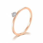 Rose Gold Wedding Rings for Women in Stainless/Titanium Steel